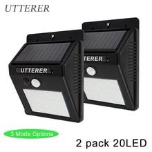 mode 2 Pack 20LED Solar Powered
