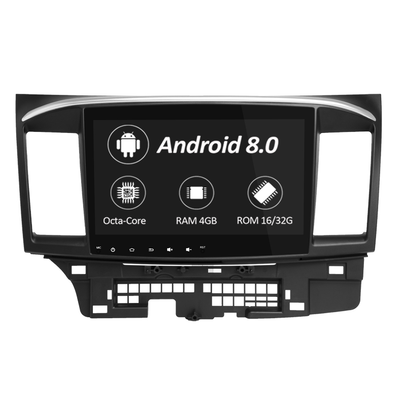 Octa Core Android 8.0 Car Dvd Gps Player For MITSUBISHI LANCER 2007-2015 Car Radio Video Stereo Audio Navigation