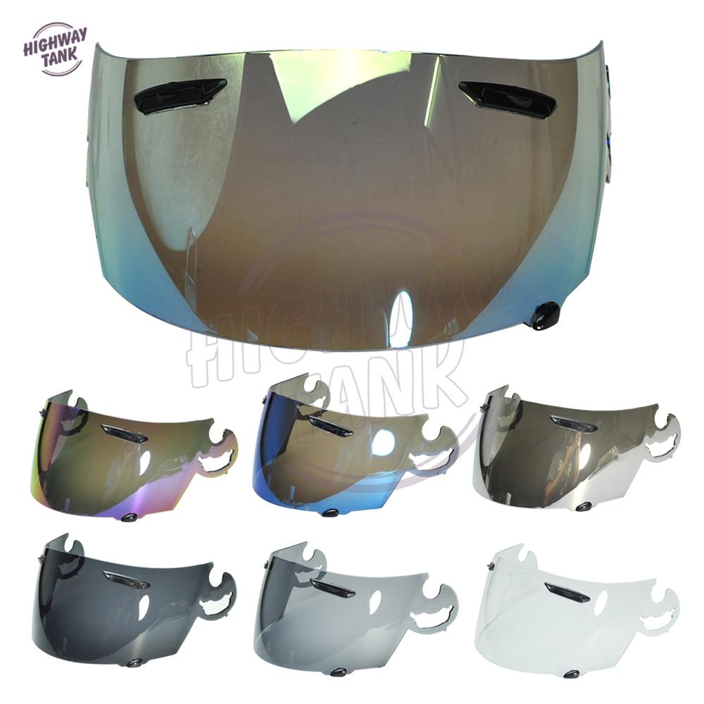 7 Colors Motorcycle Full Face Helmet Visor Lens Case for ARAI RR4 Visor Mask with Smoke Gold Blue Chrome Iridium Clear