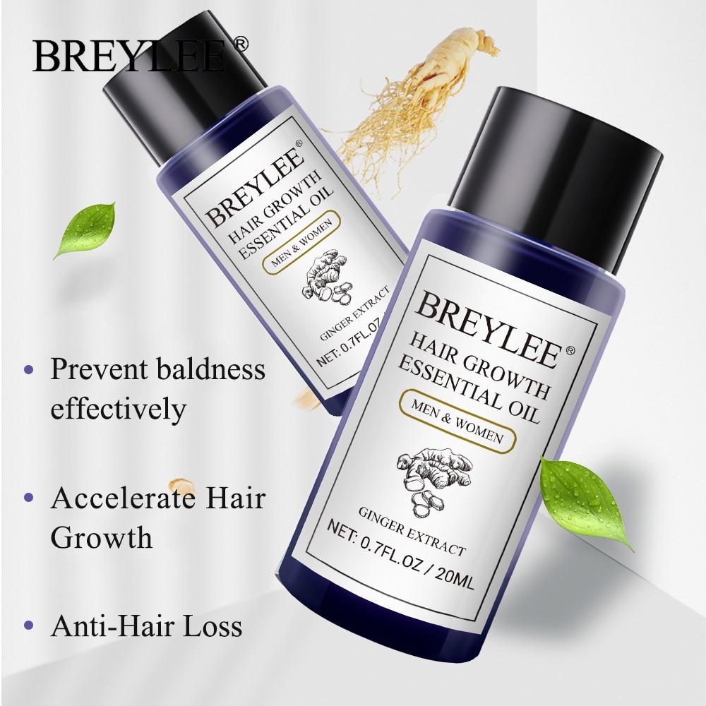 BREYLEE Hair Growth Essential Oil 20ml Fast Powerful Hair Products Hair Care Prevent Baldness Anti-Hair Loss Serum Nourishing Karachi