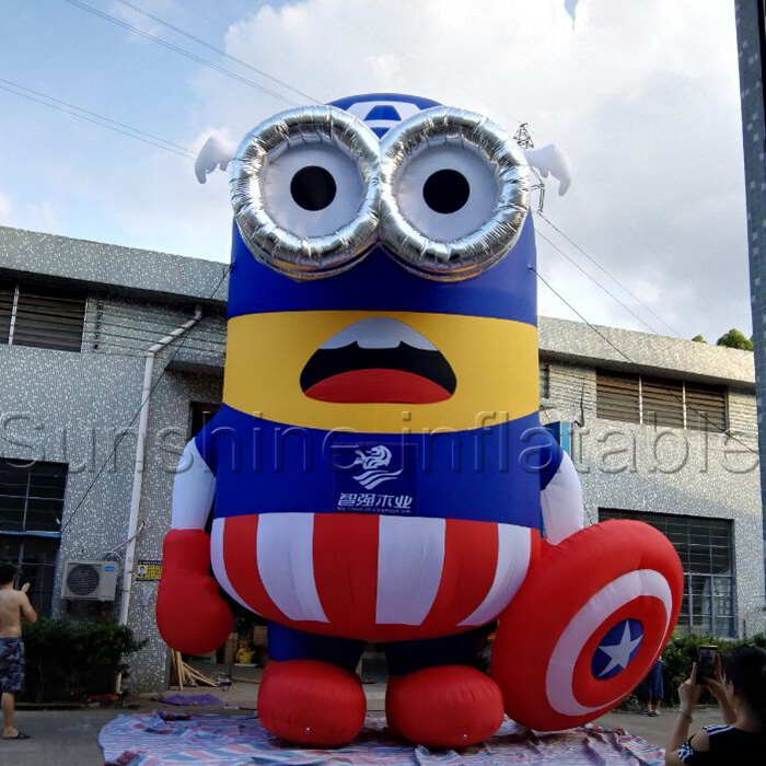 Super giant 8m American captain inflatable minions model for adverting display
