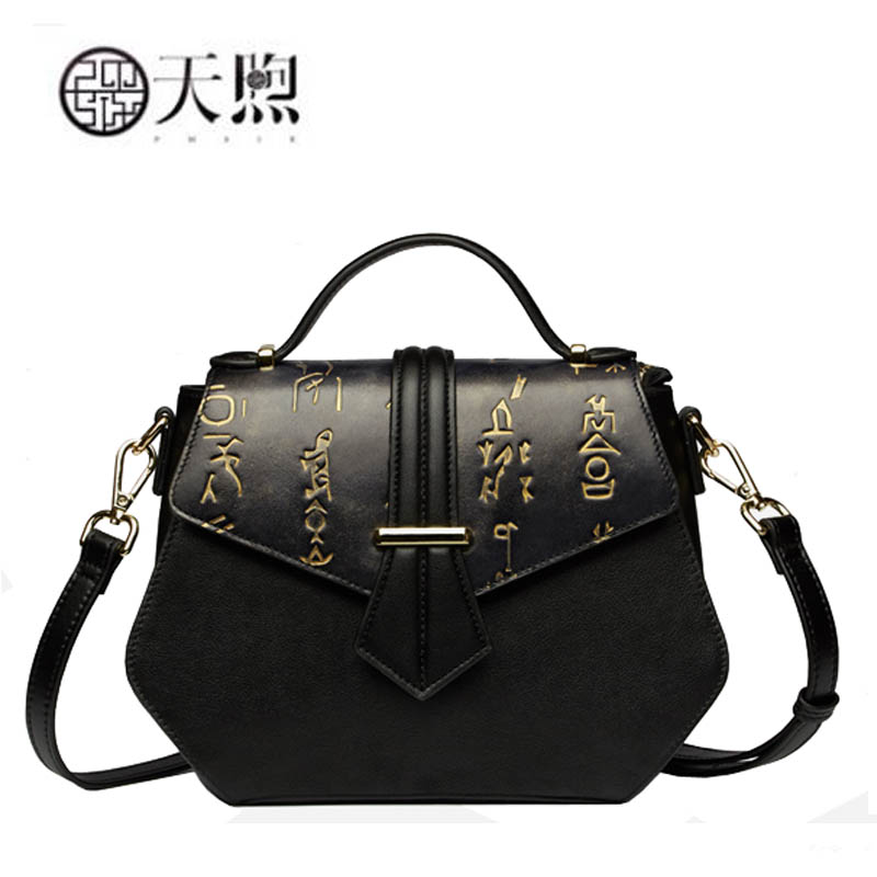 New women genuine leather bags fashion luxury handbags designer Chinese embossed women bag tote handbags shoulder bags small classic black leather tote handbags embossed pu leather women bags shoulder handbags elegant