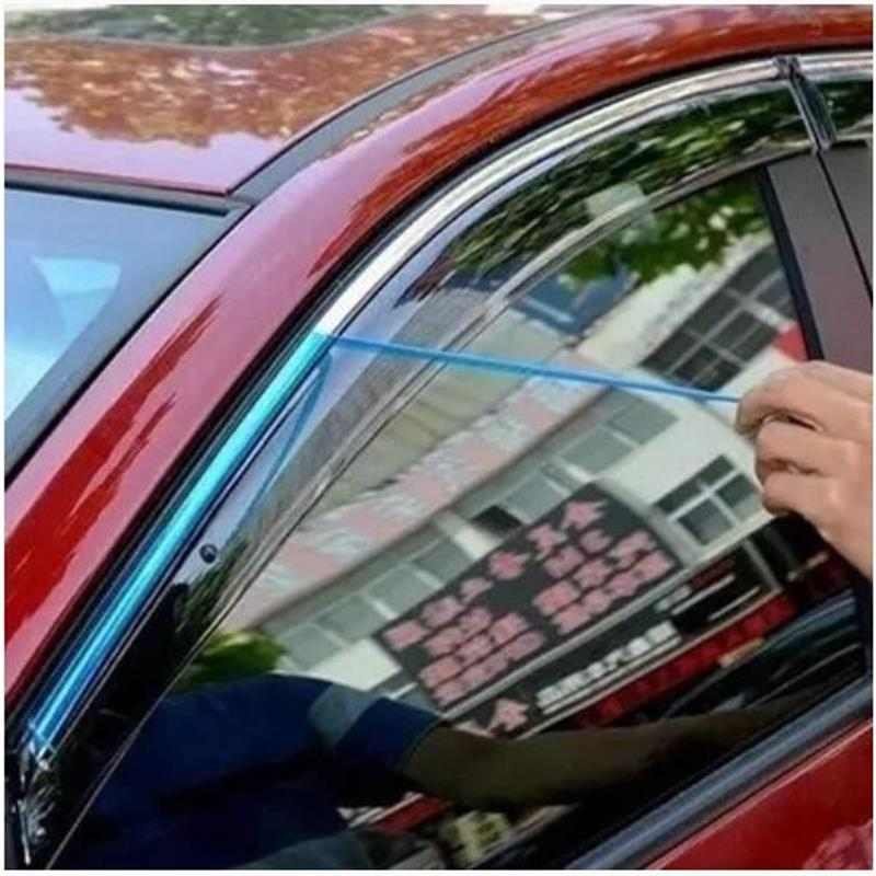 For Ford Fiesta 2010-2013 2014 2015 2016 Sedan/ Hatchback Window Visor Vent Shades Sun Rain Deflector Guard Awnings Car Styling 2010 suzuki kizashi rain visor guard deflector hatch back car pls sent your car picture year in order 4pcs abs free ship