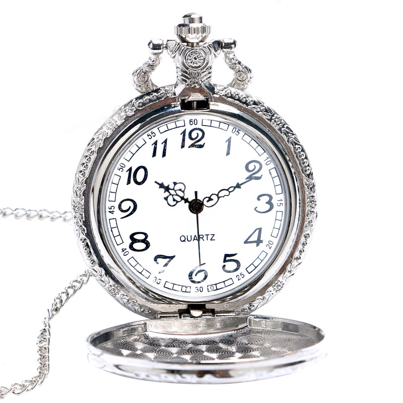 Vintage Charming Train Carved Openable Golden Hollow Steampunk Train Engine Pocket Watch Men Women Necklace Pendant Quartz Watch
