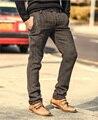 De alta Qualidade da Moda Dos Homens Novos Winter & Autumn magro calças Dos Homens de Cor Sólida Calças Terno de lã Homens de Negócios Formal Calças casuais
