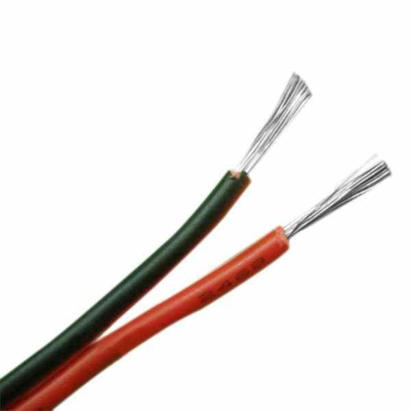 24 jauge 8M rouge noir ZIP fil AWG câble puissance terre toronné cuivre voiture