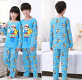 Kids sponge Bobo sleepwear cartoon pajama sets baby teenage boys girl pyjamas pijama clothing sets children cotton garment cheap