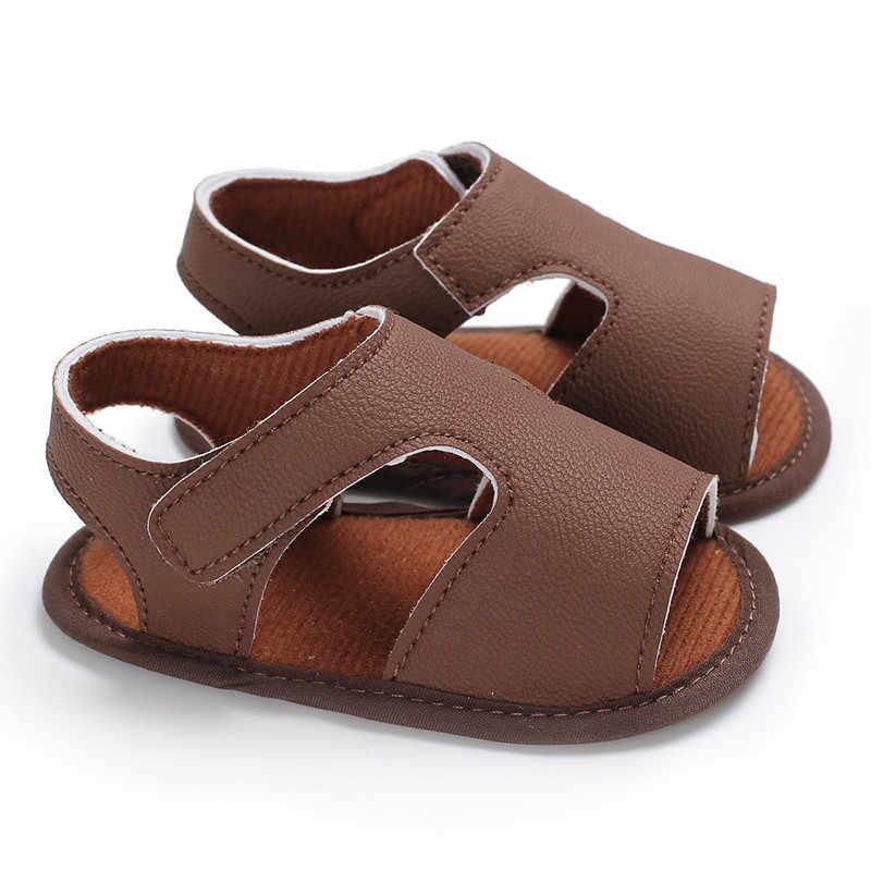 0afd287befc8 ... Summer Shoes Baby Boys Girls Kids Soft Leather Sandals Babs Boy Summer  Prewalker Soft Sole Simple ...