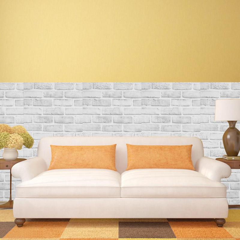 Самоклеющиеся кирпичная стена наклейки моделей DIY в общежитии дома Декор в гостиную покрытия обои для ТВ фон детская комната