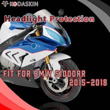KODASKIN Motorcycle ABS Front Headlight Cover Protection Screen Lens for BMW S1000RR 2015-2018