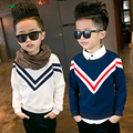 baby Boys sweater hedging 2016 new children's clothing fashion kids cartoon double cotton casual fashion Autumn  L2170