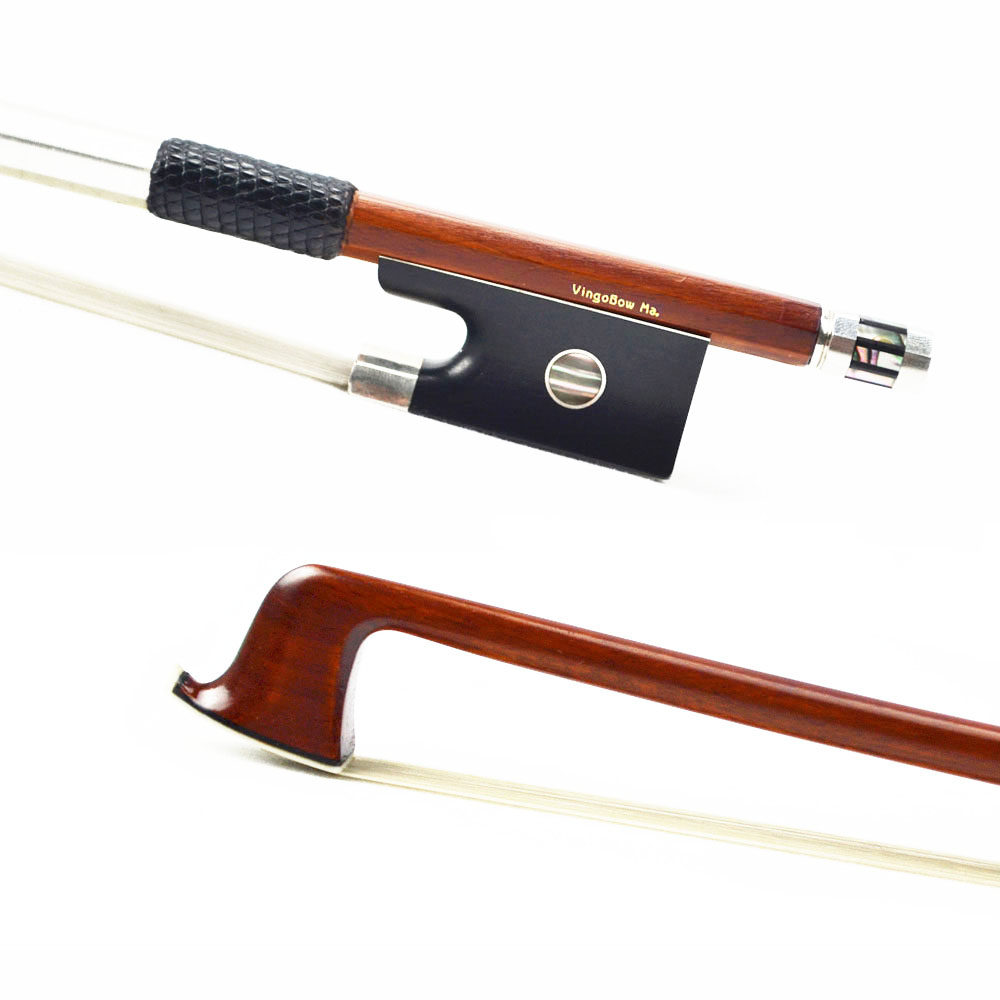 MASTER Level Sterling Silver Fitted Violin Bow PERNAMBUCO Wood Material!WARM & SWEET Tone 4/4 New,Violin Part Violin Accessories