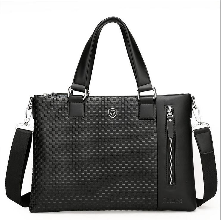 Business Men s briefcase iPad bags Men leather font b handbag b font