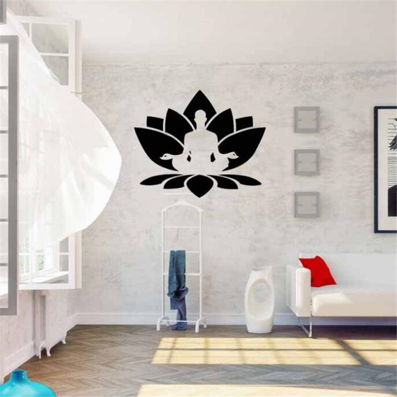IDFIAF Vinyl wall stickers gym yoga yoga hall decoration mobile ...