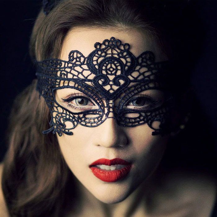 Factory Halloween Masquerade Party Sex Tools For Women Lady Bdsm Toys Female Black Lace Porn Adult Sex Mask Fetish Hot