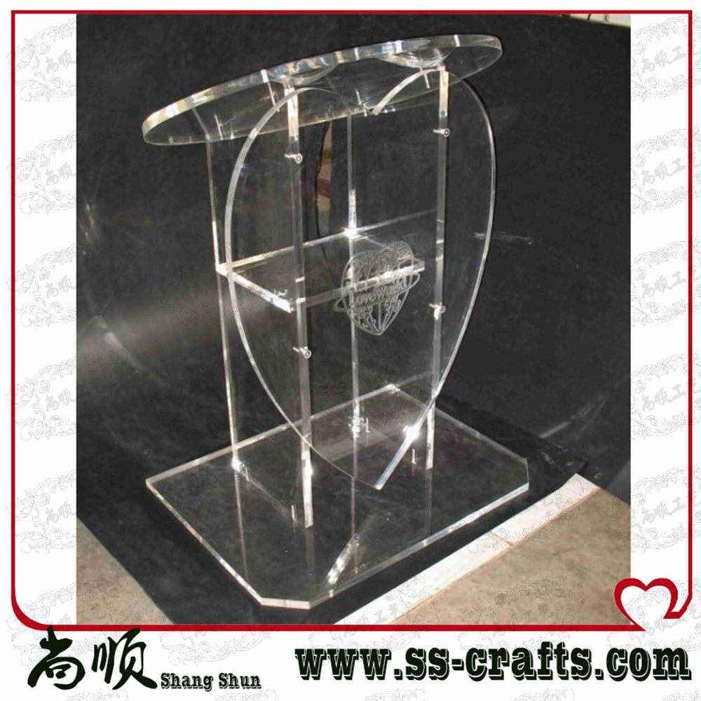 Speaker Podium Clear Acrylic Lectern Perspex Podium Pulpit Church Pulpit Decorations Crystal Column Podium Standard Podium Size