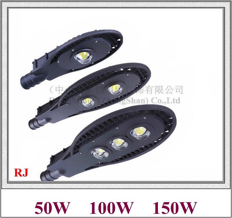 Epistar led chip COB LED street light lamp LED road light IP65 50W / 100W / 150W AC85V-265V aluminum grid style II RJ-LS-F bsod 24w led street light bulb road lamp ip65 waterproof aluminum housing ac85v 265v