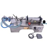 1 Pcs 5 100ML Semi Automatic Pneumatic Liquid Filling Machine Filling Shampoo Perfume SS304 Beverage Packer
