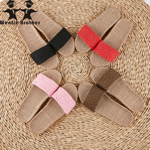 wenjie brother Women Men Anti-slip Linen Home Indoor Summer Open Toe Flat Shoes Slippers New