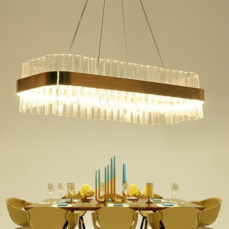 rectangular dining room light fixtures | jmmxiuz New rectangular pendant lights modern lamp AC110V ...