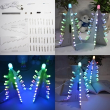 DIY Light Control Full Color LED Big Size Christmas Tree Tower Electronic Kit christmas decorations for home