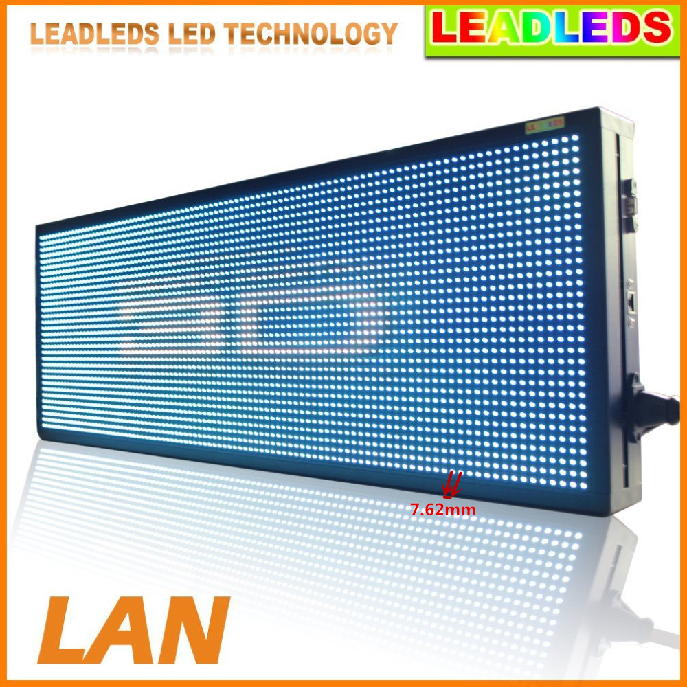 32*192 Pixles 149 X 27cm RGB Full Color Indoor LED Video Display Screen Billboard p7.62 led sign module- Fast Program By Etherne