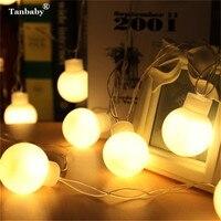 Tanbaby 5 CM Große Kugel LED String Licht Weihnachten 5 Mt Globus Luftballons Fairy String Garland Outdoor Neujahr Hochzeit Sternenlicht