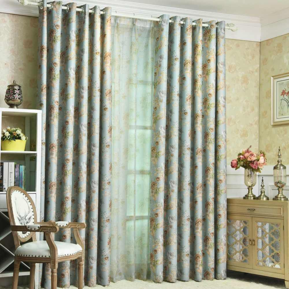 Curtains For A Blue Room Short Curtain Treatment Blackout Window Modern Floral Drapery Window Kitchen Living Pink Shade Blue Bedroom Room Curtains