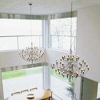 Нордический дизайн светодио дный подвесные светильники для гостиной гостиничный номер дома DingRoom lampade sospensione золото/Серебряная Подвеска осв