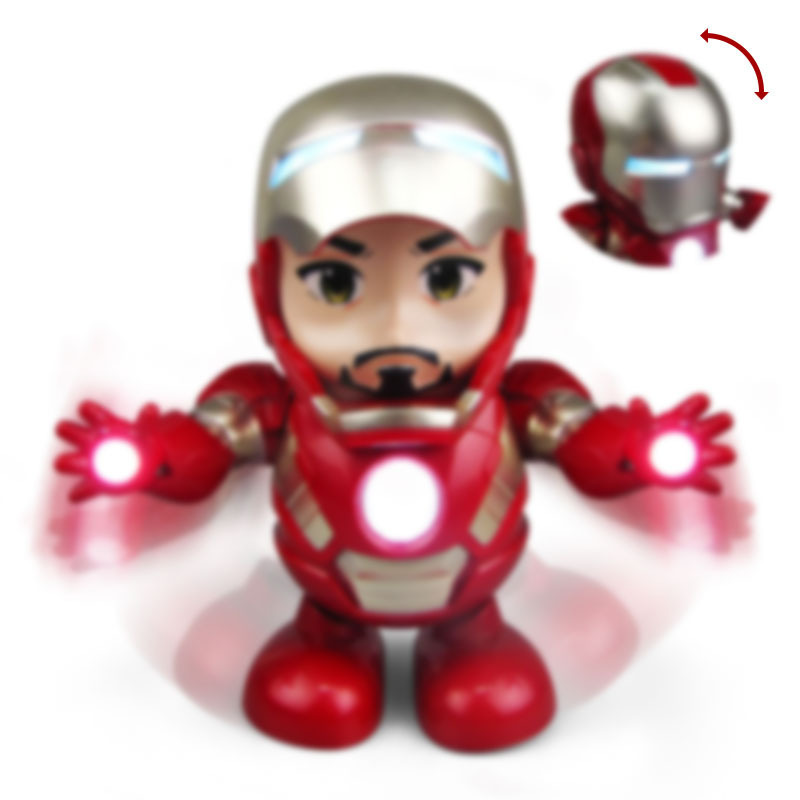 6.1 Children's Day Gift To Children Avengers Marvel Ironman Dance Iron Warrior Robot Lighting Music Electric Toy Dance Hero