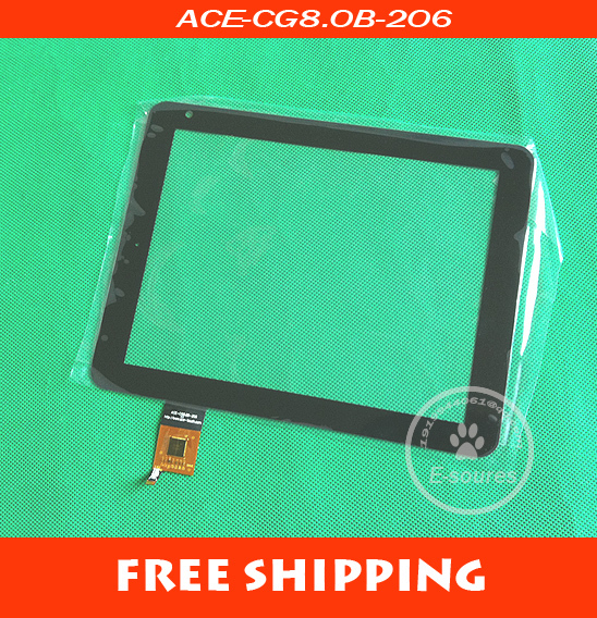 Free Shipping of 8 inch Capacitive Tablet PC touchscreen for BQ Curie IPS, 8 inch, ACE-CG8.0B-206 1pcs free shipping sc3075b touchscreen
