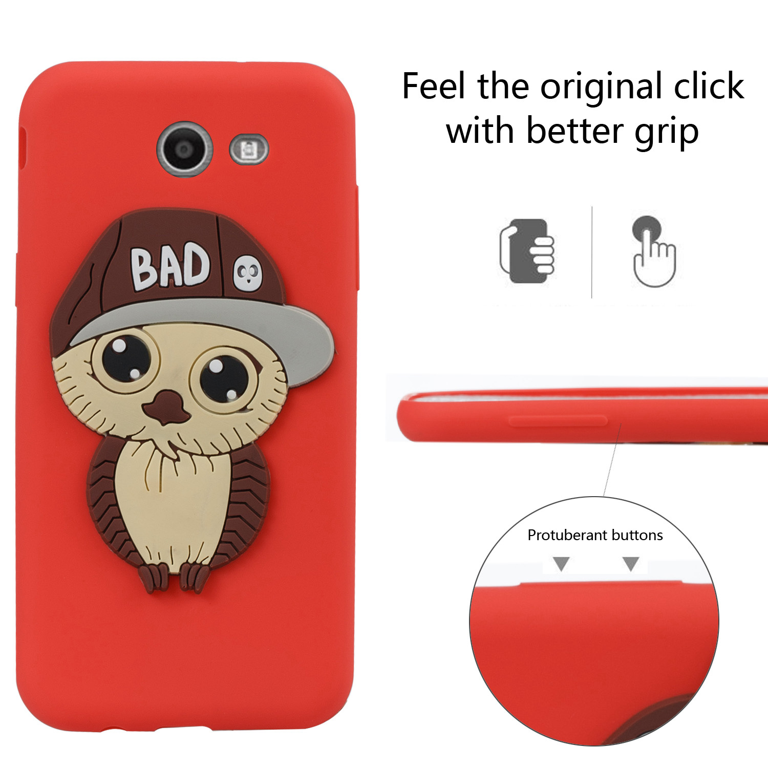 Owl pattern mobile phone protection shell for Samsung galaxy J3 2017 U.S. Edition mens model patch atmosphere for galaxy