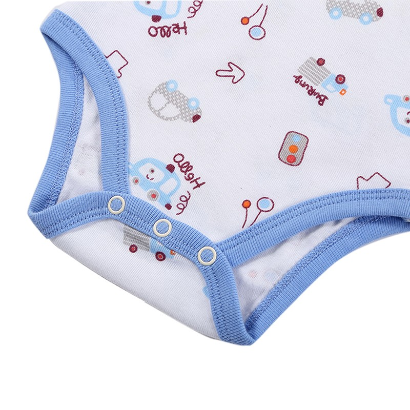 DH16106 Newborn Baby Clothes Animal Print Short Sleeve Cotton Baby Boy Romper Girl Ruffle Romper roupas de bebe infantil Costumes (11)