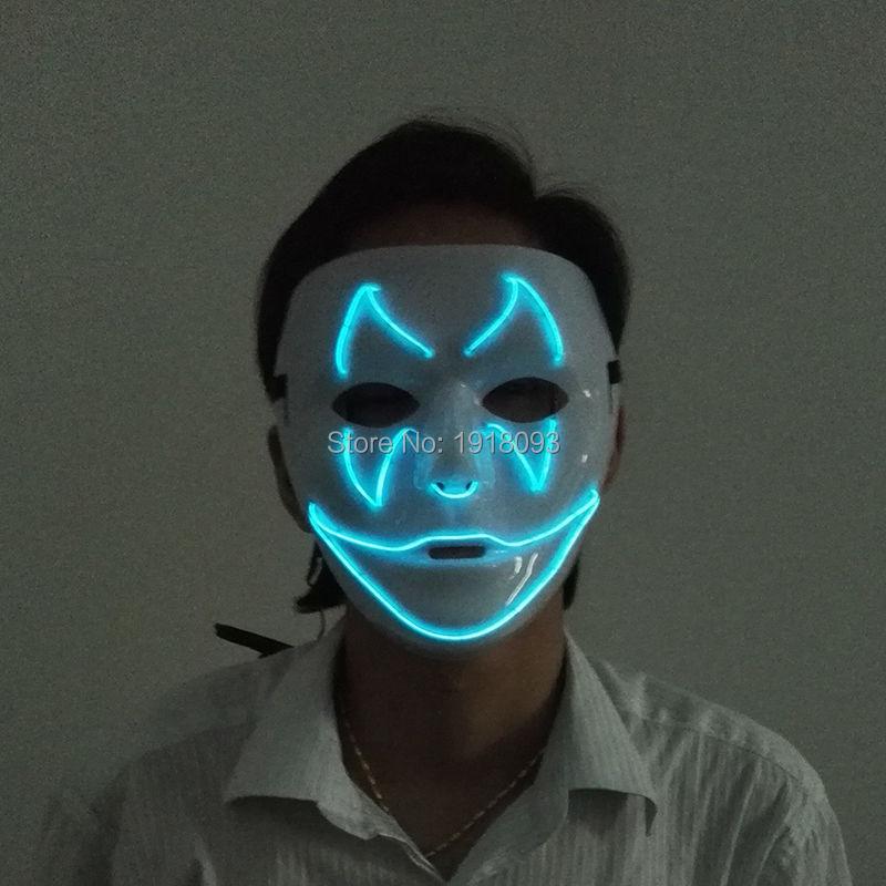இНОВЫЙ Стиль EL wire битой улыбка Маски Хэллоуин Маска Мигает ...