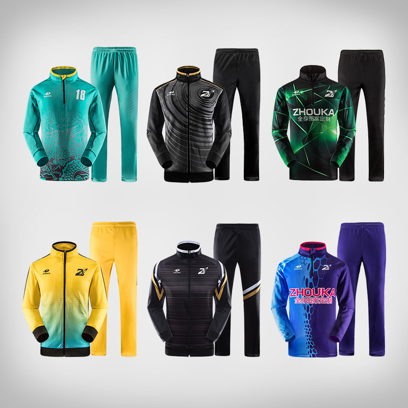 Custom sublimation soccer jacket winter autumn keep warm football training suit professional design elastic soccer tracksuit active hooded design elastic tracksuit in amry green