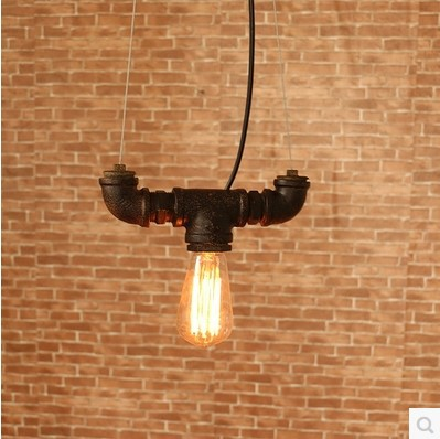 Industrial Lamp Loft Style Edison Vintage Pendant Lights Fixtures For Bar Water Pipe Retro Lamp Industrial Lighting loft industrial rust ceramics hanging lamp vintage pendant lamp cafe bar edison retro iron lighting