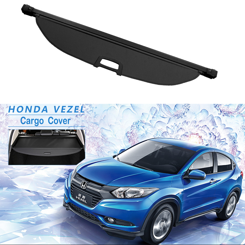 Rear Cargo Cover For Honda VEZEL XRV HR-V HRV 2014-2019 Privacy Trunk Screen Security Shield Shade Auto Accessories