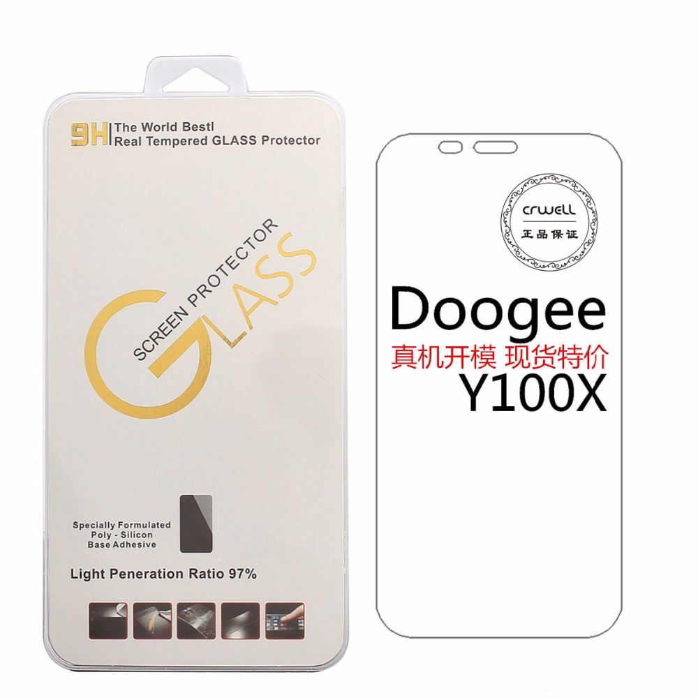 For doogee Y100X Screen Protector Luxury 9H 0.26mm 2.5D Anti-Explosion Thin Front Y100X Tempered Glass Protective Film