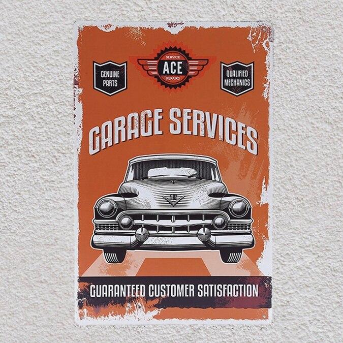 1 pc Mechanic store garage Car Repair genuine parts shop Tin Plate Sign plaques Man cave vintage Shop metal poster