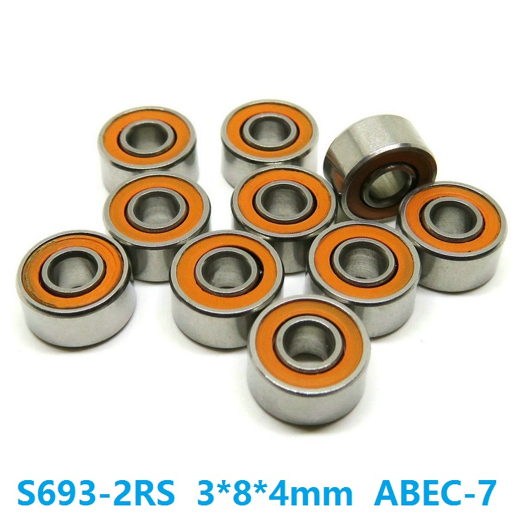 6pcs/10pcs S693-2RS 3x8x4 mm ABEC-7 Stainless Steel hybrid Si3n4 ceramic bearing 693RS 693 2RS CB LD for fishing reel 3*8*4 6pcs or 10pcs s695 2rs 5x13x4 mm abec 7 stainless steel hybrid si3n4 ceramic bearing 695rs 695 2rs cb ld fishing reel 5 13 4