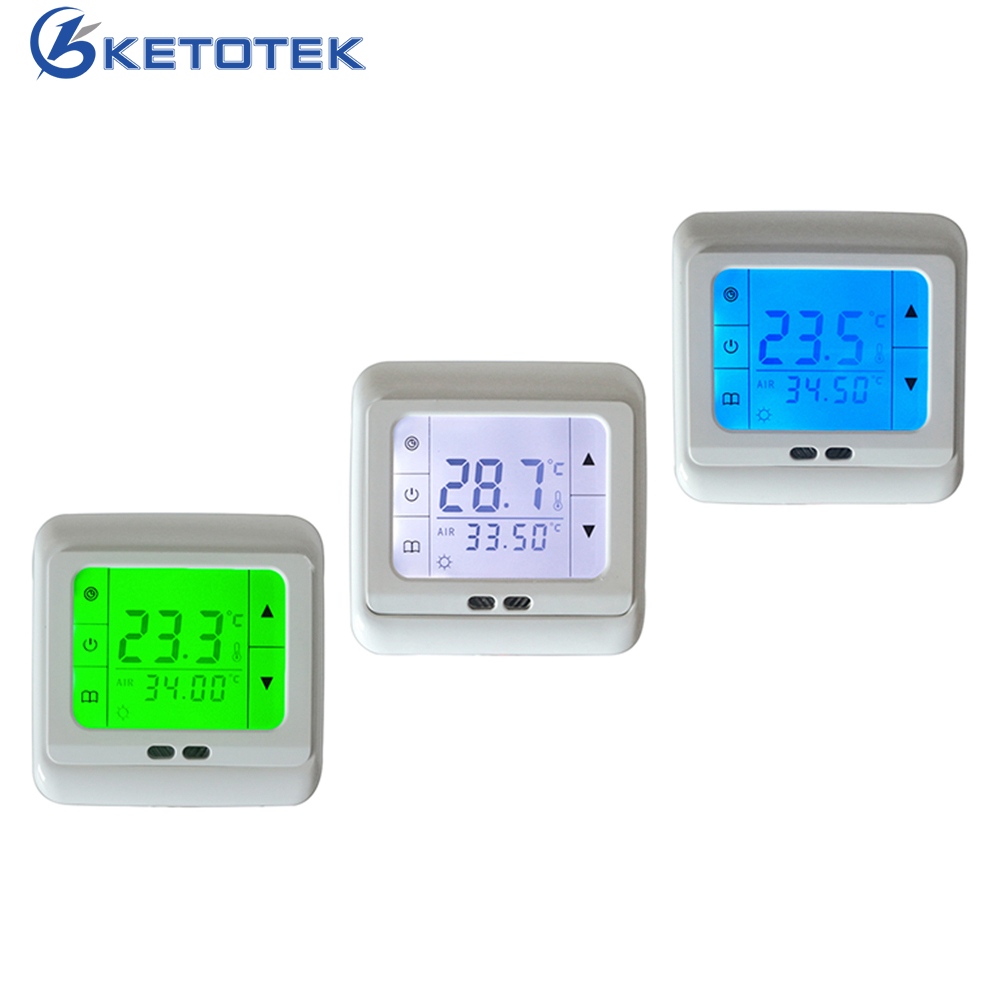 Digital Touch Screen Heating Thermostat Floor Heating Temperature Controller Auto Controller with White Backlight range 40 99 degree 220v touch digital lcd temperature controller with touch button cooling heating switch thermostat
