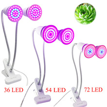 Dual LED Plant Grow Lamps Light 36LED/54LED/72LED Indoor Flower Seeds Growth Bulbs With Desk Clip For Greenhouse Hydroponics