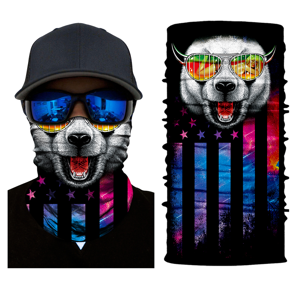 Motorcycle 2018 3D Animal Face Mask Motorcycle Cycling Skull Neck Headband Seamless Scarf Skull Bandana Headwear bicycle ski motor bandana motorcycle face mask skull for motorcycle riding scarf women men scarves scary windproof face shield