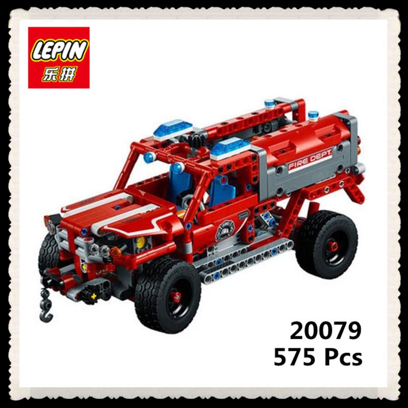 IN STOCK LEPIN  20079 New 575Pcs Technic Series The First Responder Set 42075 Building Blocks Bricks Educational Toys Kids Gifts in stock lepin 23015 485pcs science and technology education toys educational building blocks set classic pegasus toys gifts