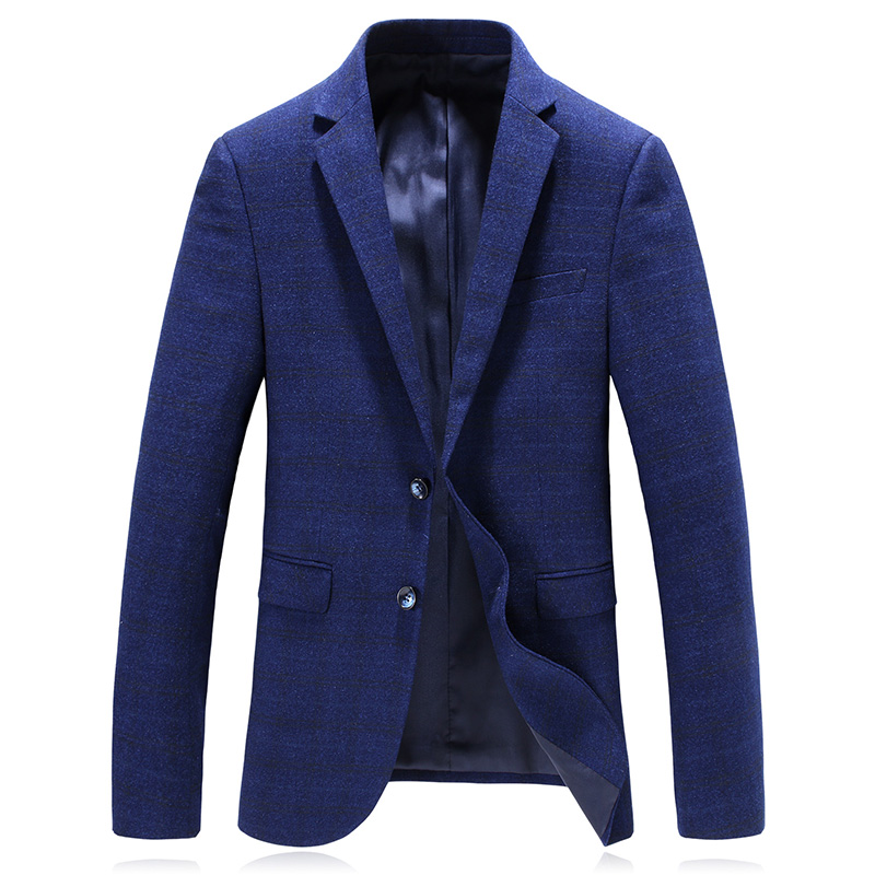 2019 Autumn Men s Single Breasted Suit Jacket Casual Men s Woolen Business Blazers Fashion High