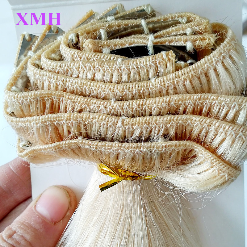 110G CLIP IN HAIR EXTNEIIONS BLONDE COLOR HAIR