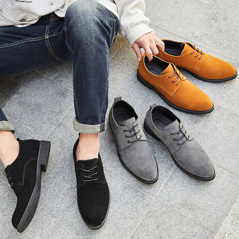New Genuine Leather Shoes Men Spring Autumn Casual Fashion Elegant Men Shoes Outdoor Party Oxfords Shoes Big Size38 47 in Oxfords from Shoes