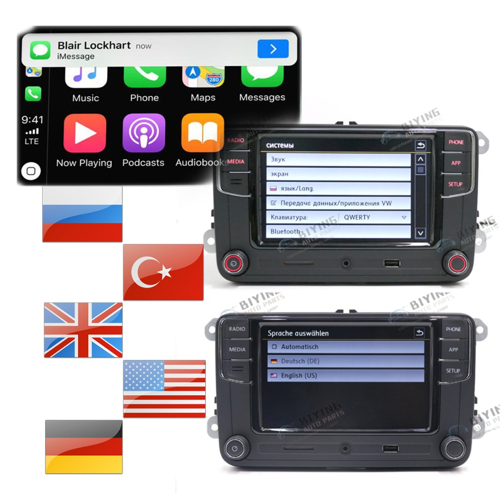 Tedesco Russo Lingua Turca RCD330 Più CarPlay Radio Per Il Golf 5 MK5 MK6 CC Tiguan Passat B6 B7 Polo 6RD035187B