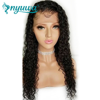 NYUWA Full Lace Human Hair Wigs Pre Plucked With Baby Hair Curly Brazilian Remy Hair Full Lace Wigs For Women Natural Color