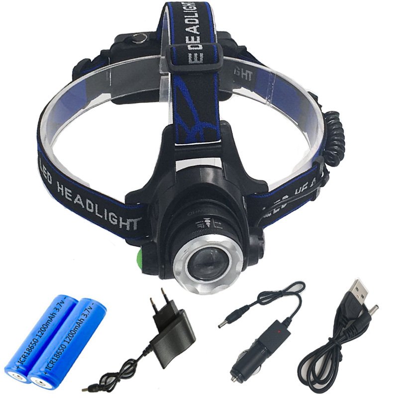 XML-T6 L2 Waterproof Chargeable High Brightness 1000 Lumen LED Outdoor strong light LED fishing lamp Outdoor headlamp for 18650